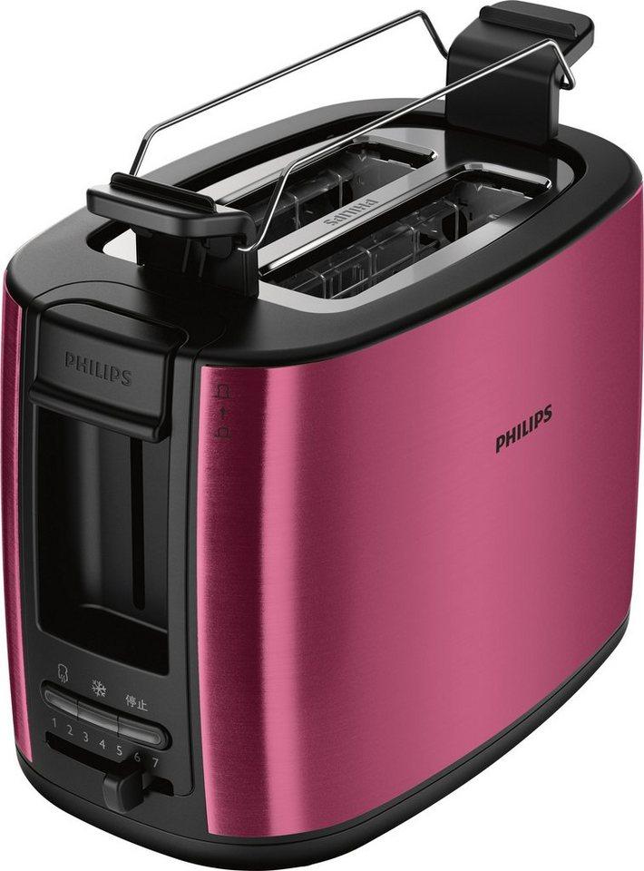 Philips Toaster »Viva Collection HD2628/09«, für 2 Scheiben, burgunderrot matt, 950 Watt in burgunder matt