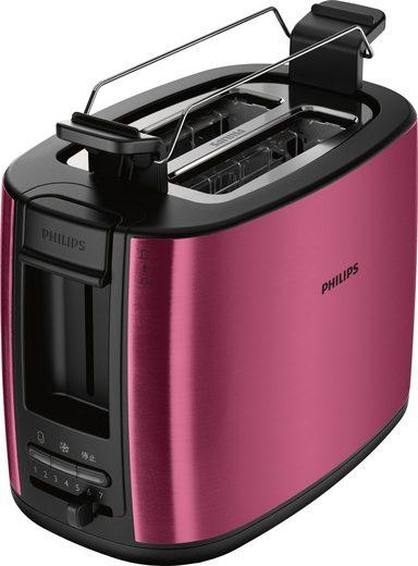 Philips Toaster Viva Collection HD2628/09, für 2 Scheiben, 950 W