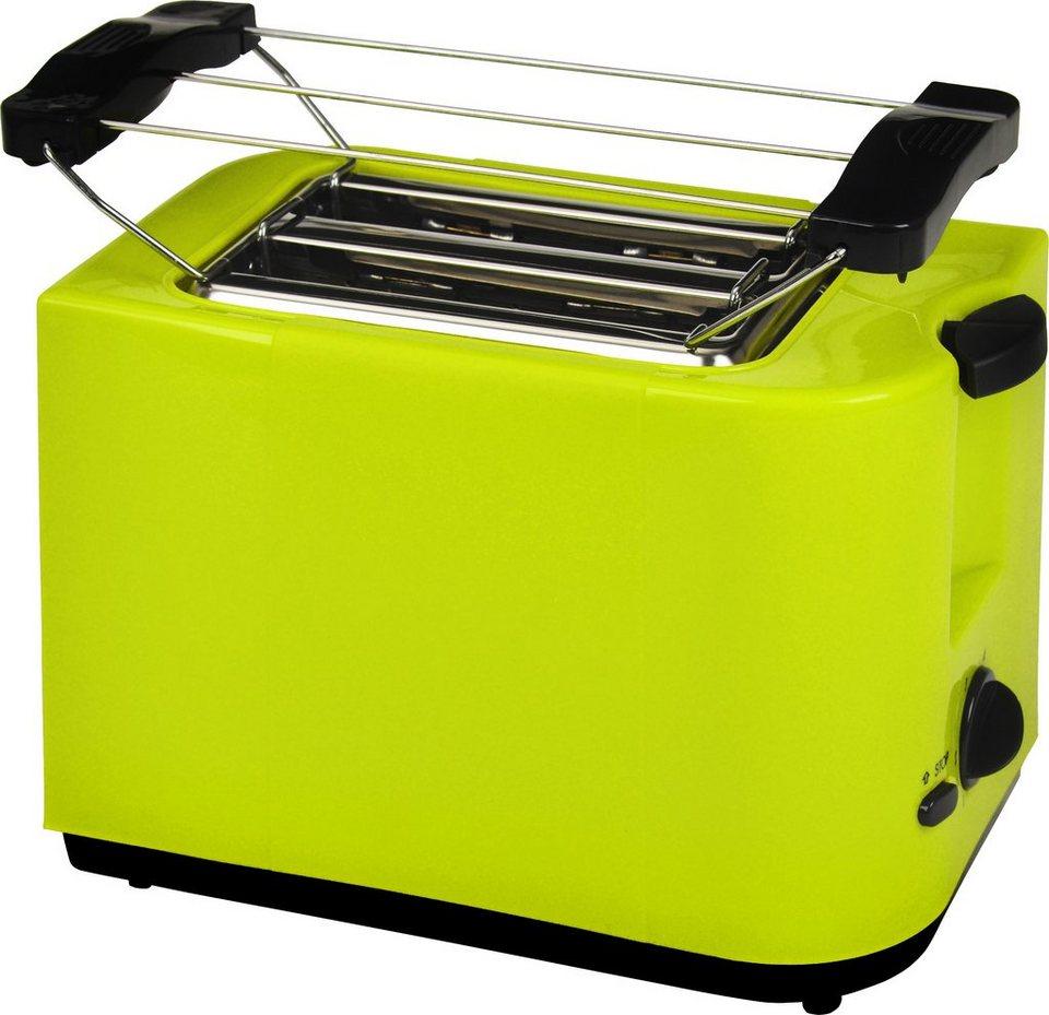 Efbe Schott Toaster SC TO 5000 LEMONE, für 2 Scheiben, 700 Watt in lemon / grün