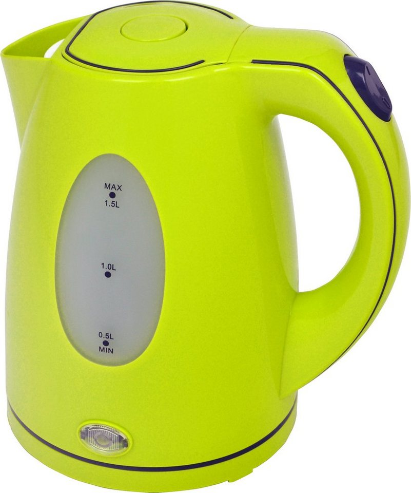 efbe-schott Wasserkocher SC WK 5010 LEMON, 1,5 Liter, 2200 Watt in lemon / grün