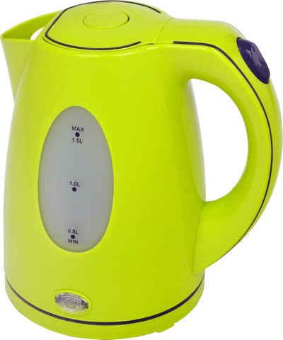 Efbe-Schott Wasserkocher SCWK5010, 1,5 l, 2200 W, lemon/grün