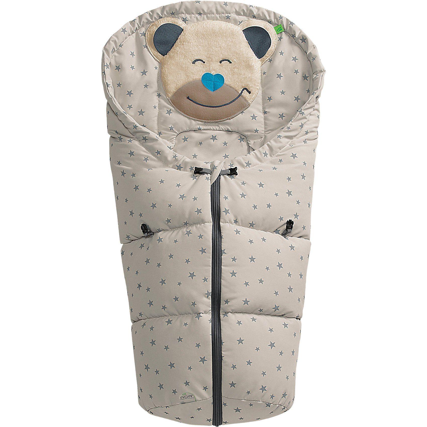 Odenwälder Fußsack für Babyschale und Kinderwagen Mucki Sterne, creme,