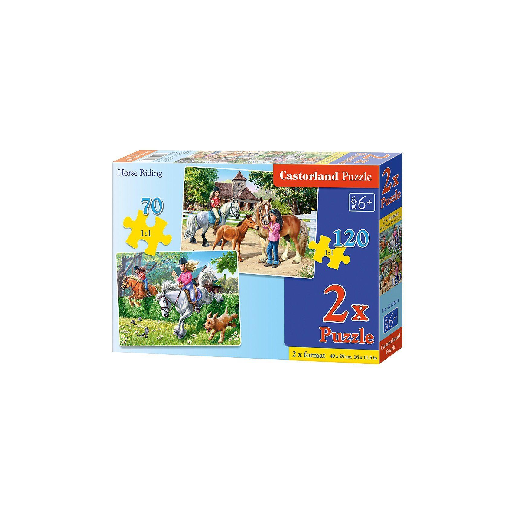 Castorland Puzzleset 70/120 Teile - Pferdereiten