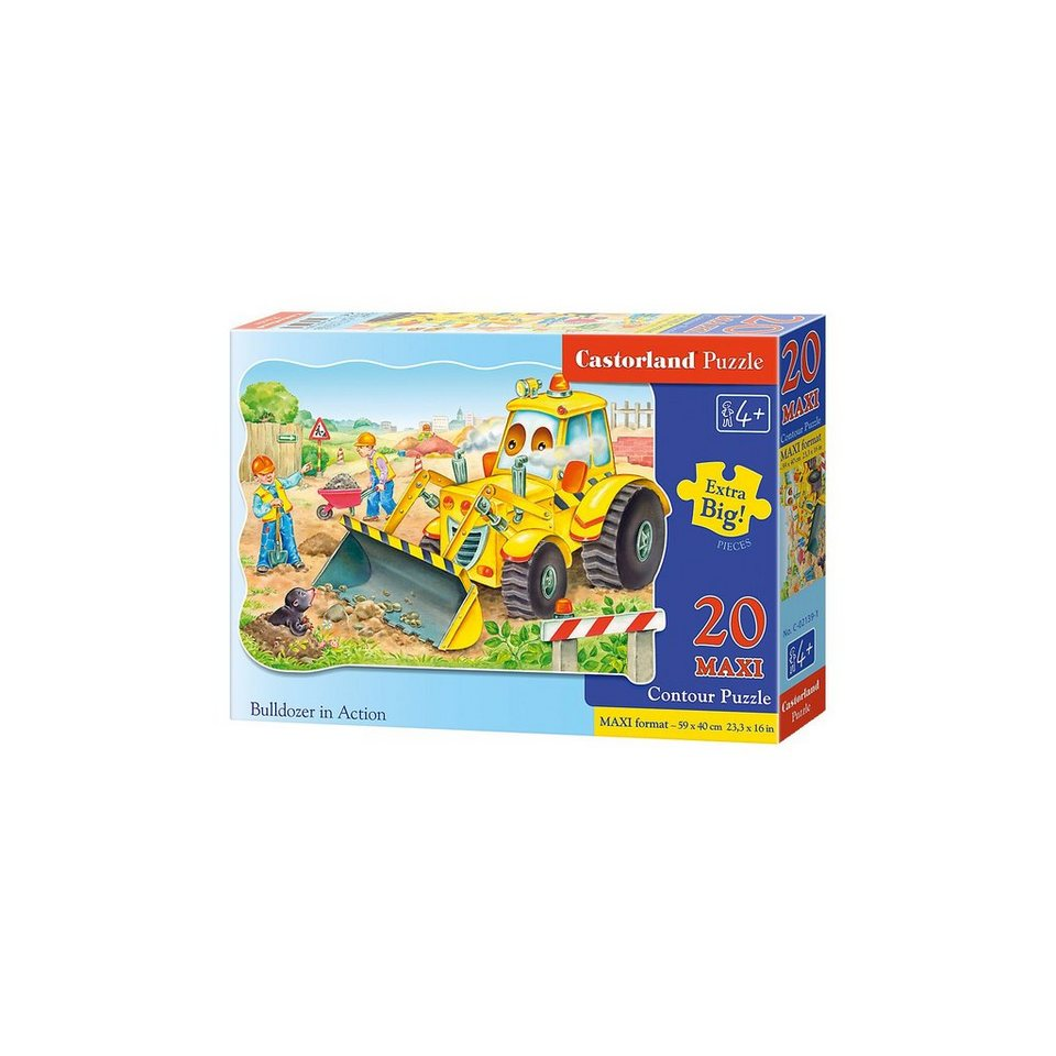 Castorland Puzzle 20 Teile Kontur Maxi - Bagger