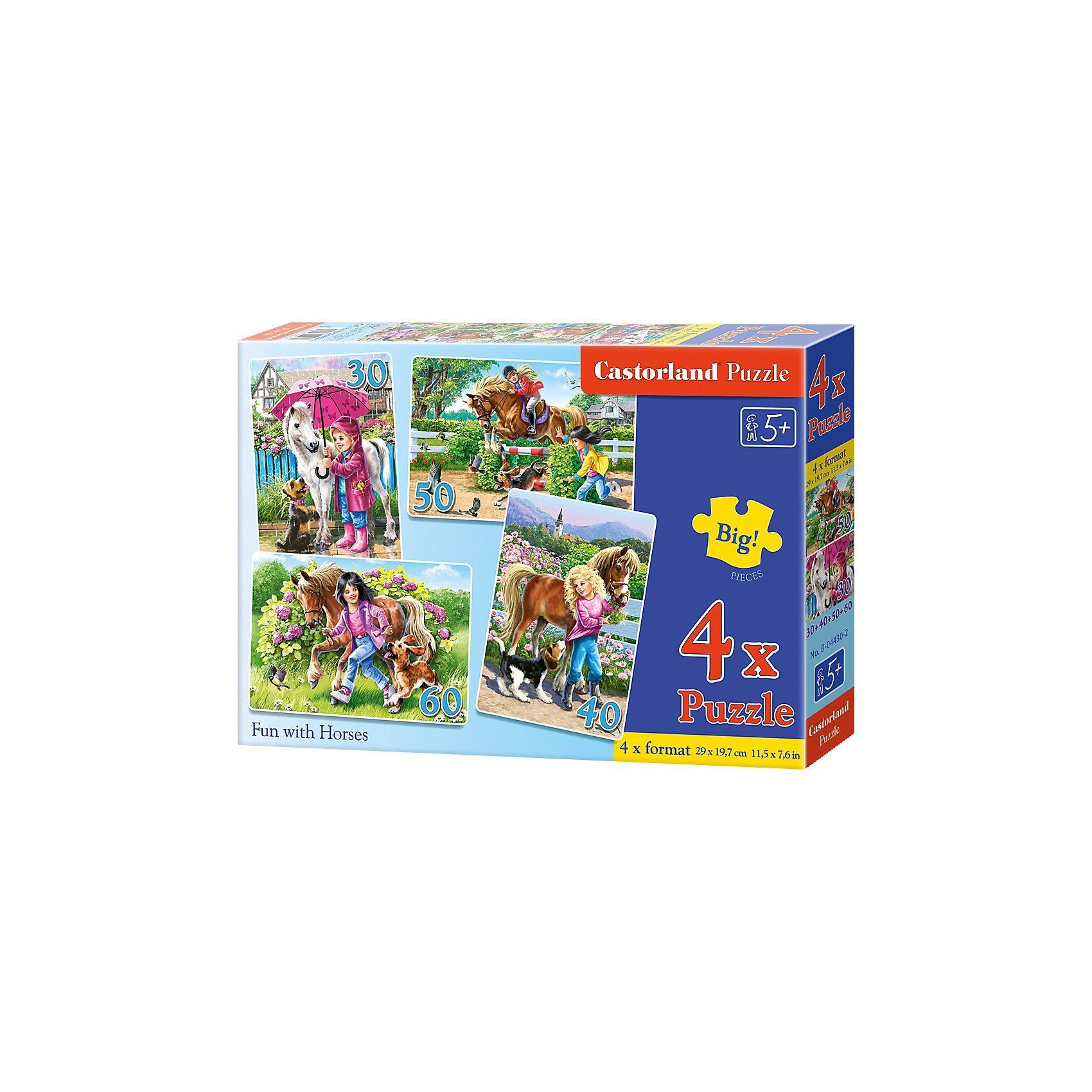 Castorland Puzzleset 30/40/50/60 Teile - Pferdespaß