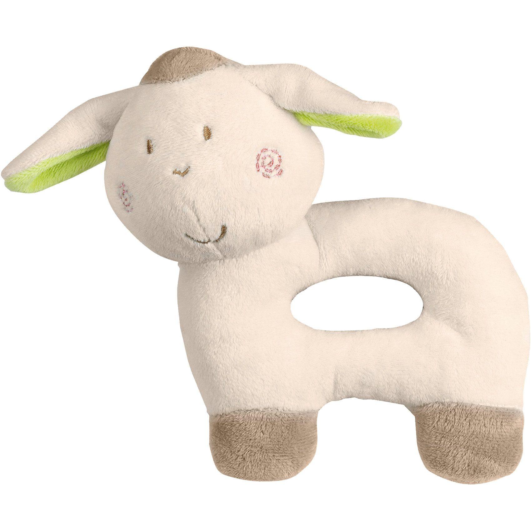fashy Plüsch-Greifling Lamm mit Rassel