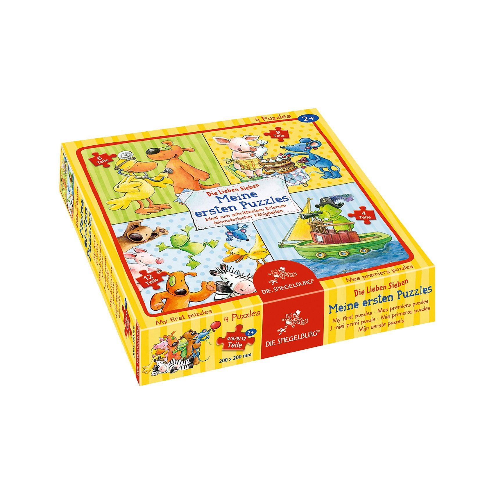 Spiegelburg Meine ersten Puzzles Die Lieben Sieben (4/6/9/12 Teile)