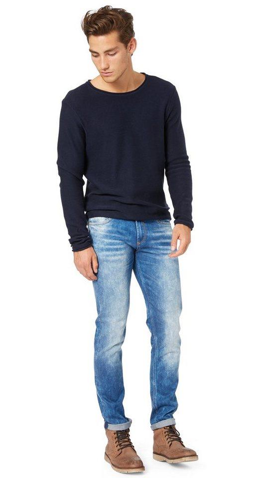 TOM TAILOR DENIM Jeans »Jeans mit starker Waschung« in azur blue denim