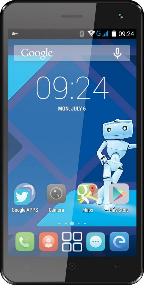Haier Voyage G31 Smartphone, 12,7 cm (5 Zoll) Display, Android 4.4, 2,0 Megapixel in Schwarz