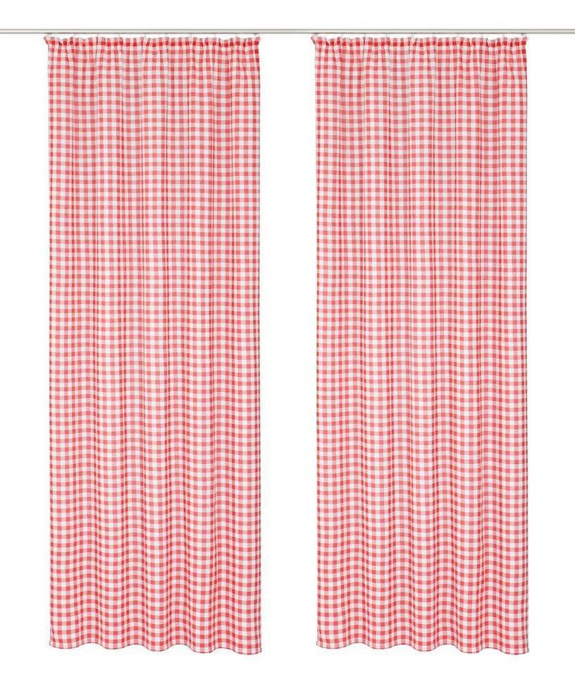 Vorhang, Wirth, »Finja« (2 Stück) in rot