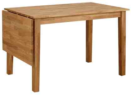 Esstisch, Home affaire, »Samba« Breite 120 cm, mit ausklappbarer Tischplatte