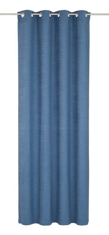 Vorhang, Wirth, »Toco-Uni«, mit Ösen (1 Stück) in blau