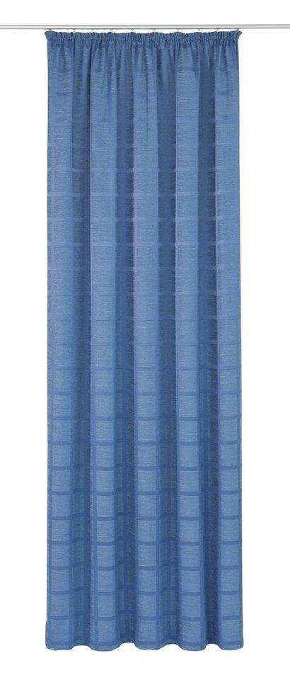 Vorhang, Wirth, »Toco-Karo« (1 Stück) in blau
