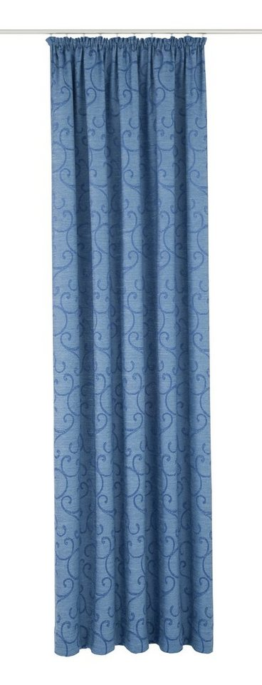 Vorhang, Wirth, (Thermo-Chenille) »Toco-Ranke« (1 Stück) in blau