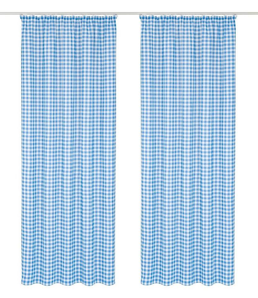 Vorhang, Wirth, »Finja«, mit Kräuselband (2 Stück) in blau
