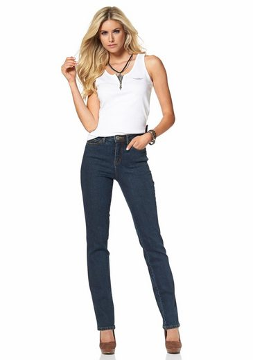 Gerade fit« Arizona »comfort Waist High Jeans ACZywq