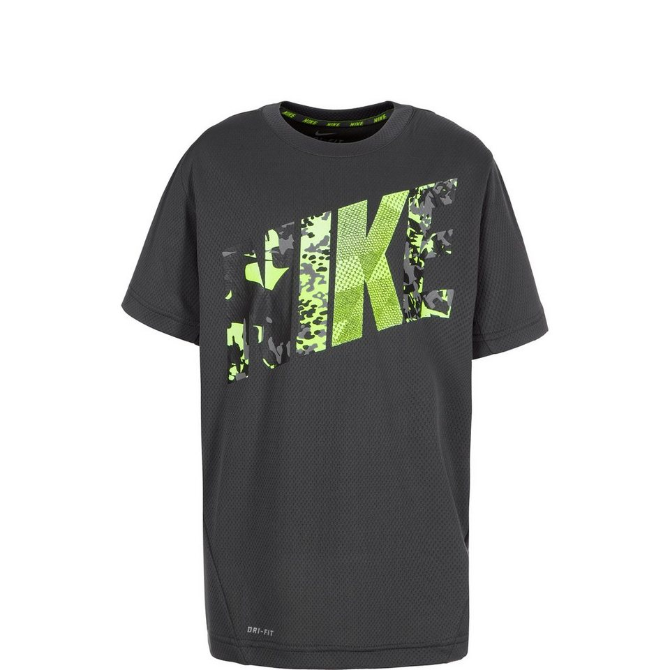 NIKE Vapor Dri-FIT Graphic Trainingsshirt Kinder in anthrazit