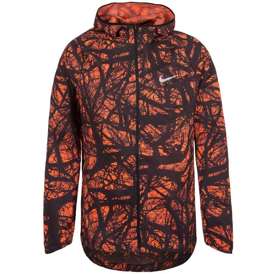 NIKE Enchanted Impossibly Light Laufjacke Herren in orange / schwarz
