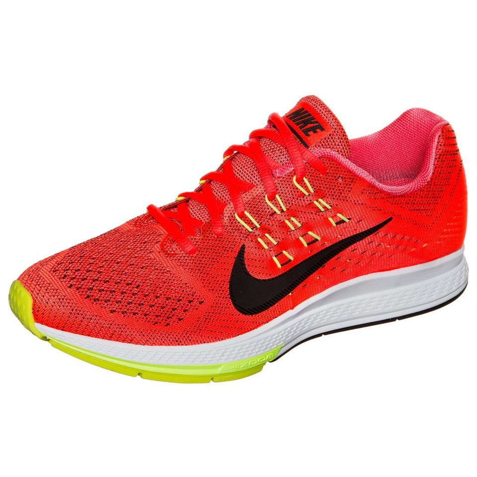 NIKE Air Zoom Structure 18 Laufschuh Herren in neonorange / schwarz
