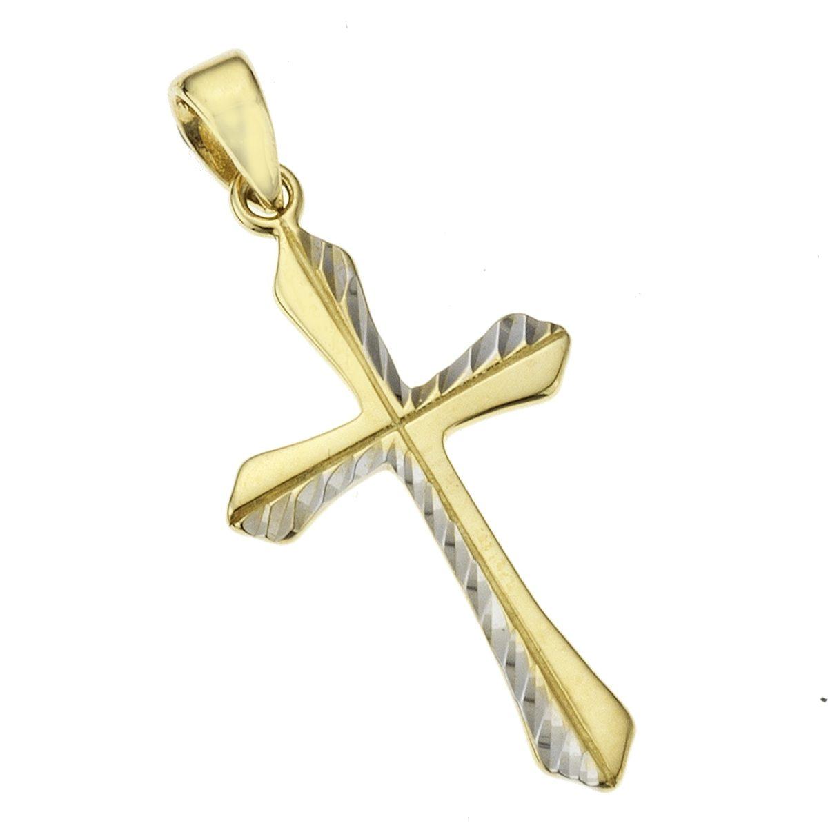 Zeeme Anhänger »333/- Gold bicolor Kreuz«