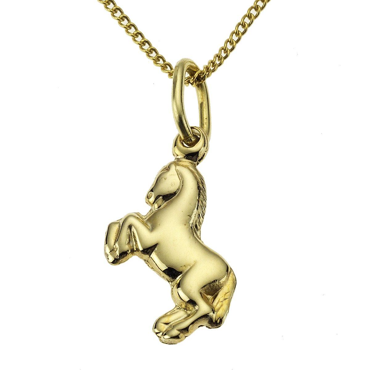 Zeeme Anhänger mit Kette »333/- Gelbgold Pferdemotiv«