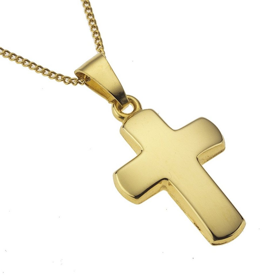 Zeeme Anhänger mit Kette »333/- Gelbgold Kreuz« in gelb