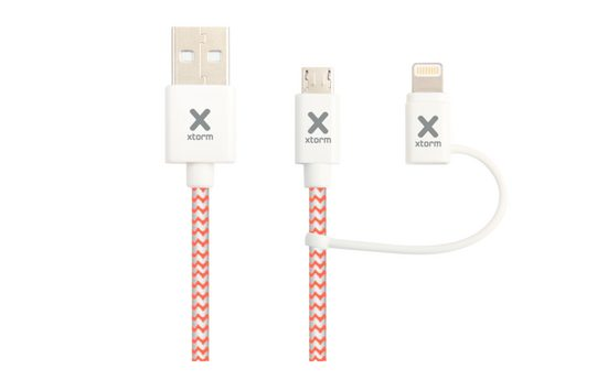 Xtorm Lader »Textiles Dual Ladekabel - Lightning & Mini-USB«
