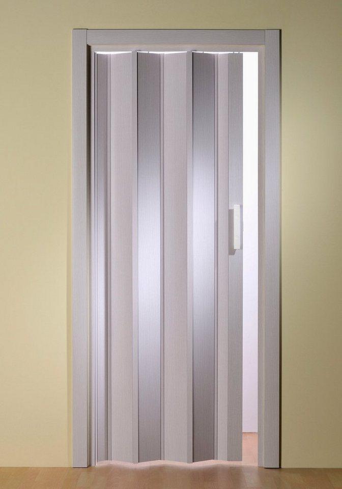 Türerweiterung für Falttür »Luciana« Höhe nach Maß, eschefarben-weiß (ohne Fenster) in weiß