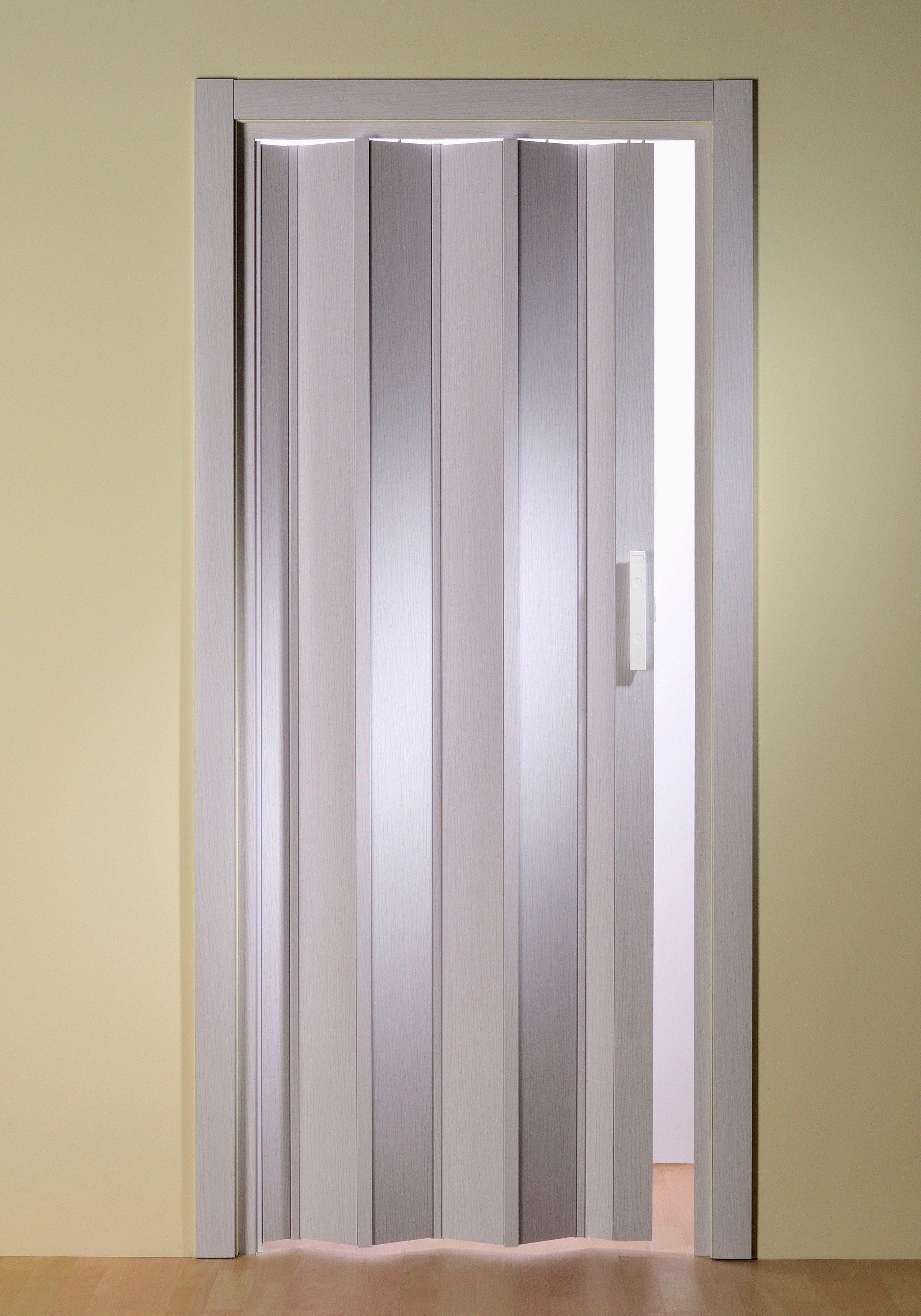 Türerweiterung für Falttür »Luciana« Höhe nach Maß, eschefarben-weiß (ohne Fenster)