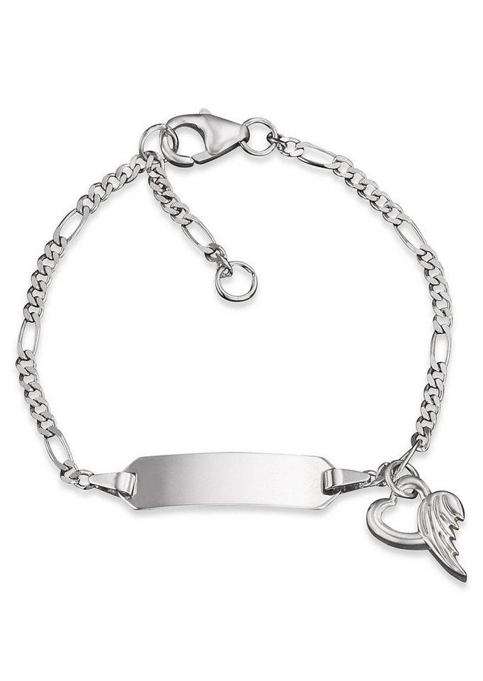 Herzengel Armband, »Herz mit Flügel, HEB-NAME-01H« in Silber 925