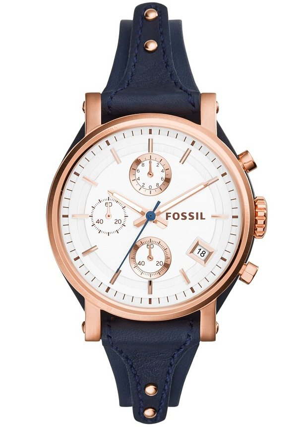 """Fossil, Chronograph, """"ORIGINAL BOYFRIEND, ES3838"""" in blau"""