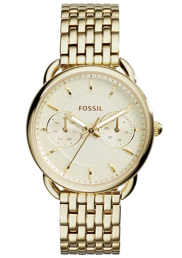 "Fossil, Multifunktionsuhr, ""TAILOR, ES3714"" in goldfarben"
