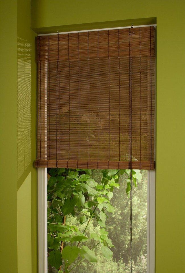 Rollo, Liedeco, »Bambus«, Bambusrollo, Fixmaß in kirschbaum