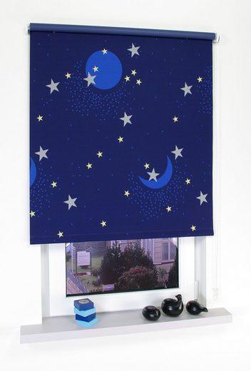 Seitenzugrollo »Sternenhimmel«, Liedeco, verdunkelnd, freihängend