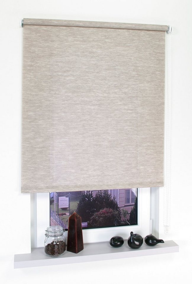 seitenzugrollo liedeco kettenzugrollo dekor struktur lichtschutz fixma online kaufen otto. Black Bedroom Furniture Sets. Home Design Ideas