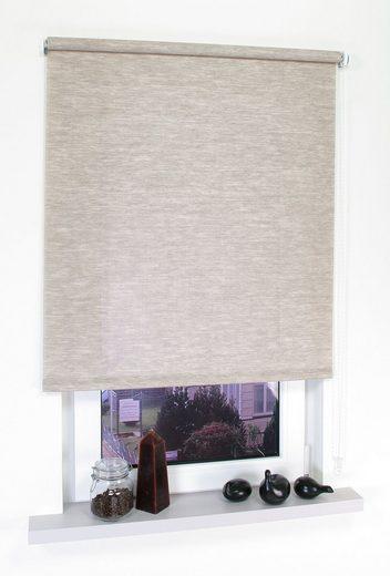 Seitenzugrollo »Dekor Struktur«, Liedeco, Lichtschutz, ohne Bohren