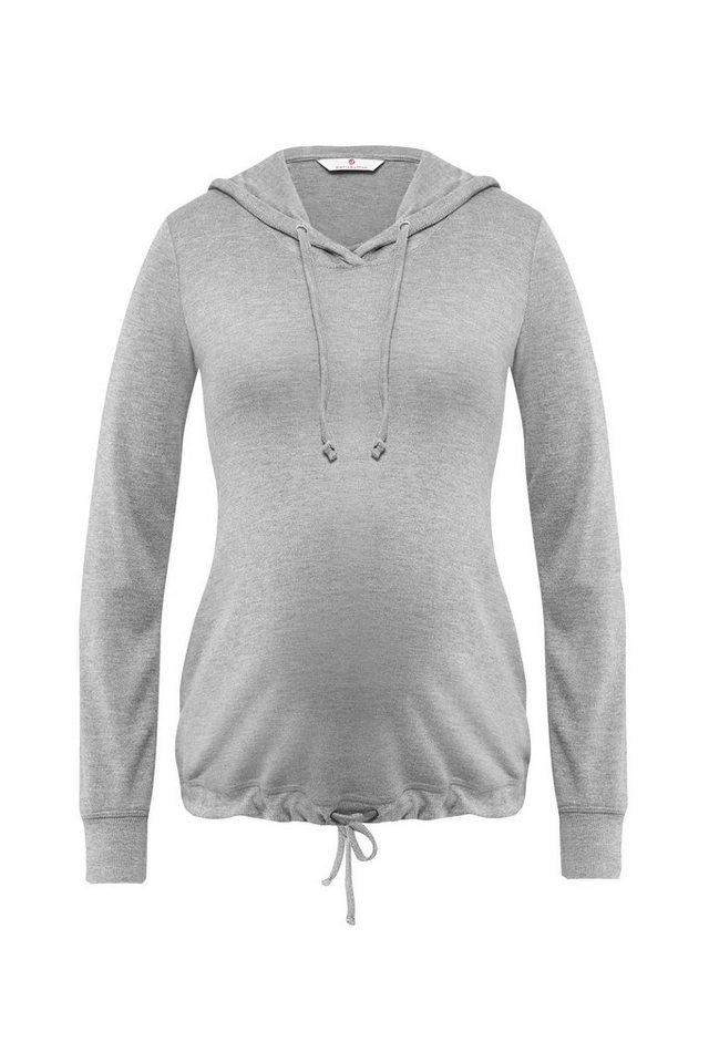 BELLYBUTTON Umstandsshirt »Junia« in grey melange italy