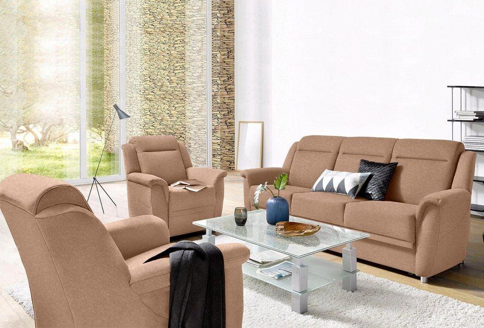 sit more garnitur set aus 3 sitzer mit bettfunktion und 2 sesseln online kaufen otto. Black Bedroom Furniture Sets. Home Design Ideas