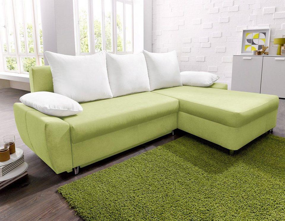 polsterecke mit bettfunktion und bettkasten otto. Black Bedroom Furniture Sets. Home Design Ideas
