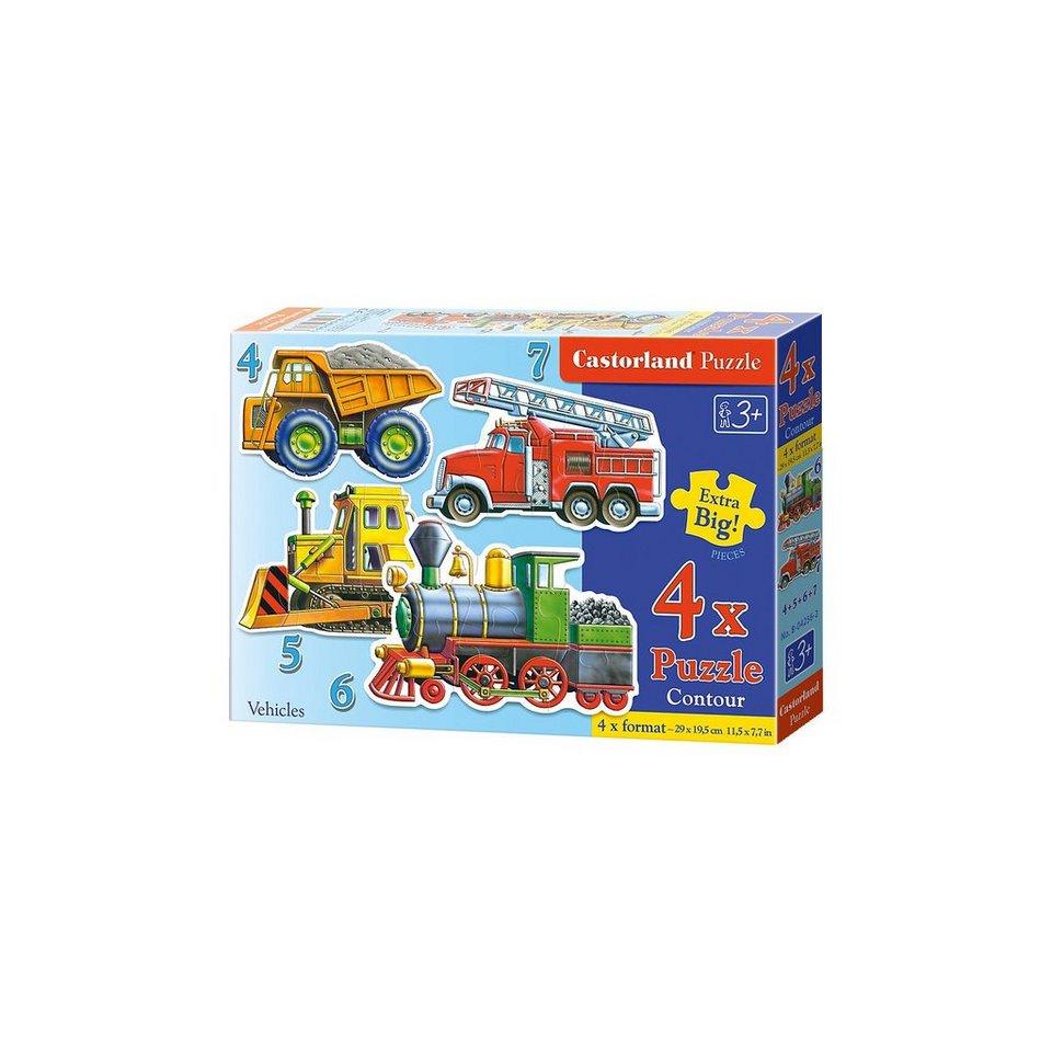 Castorland Puzzleset Konturenpuzzle - Fahrzeuge