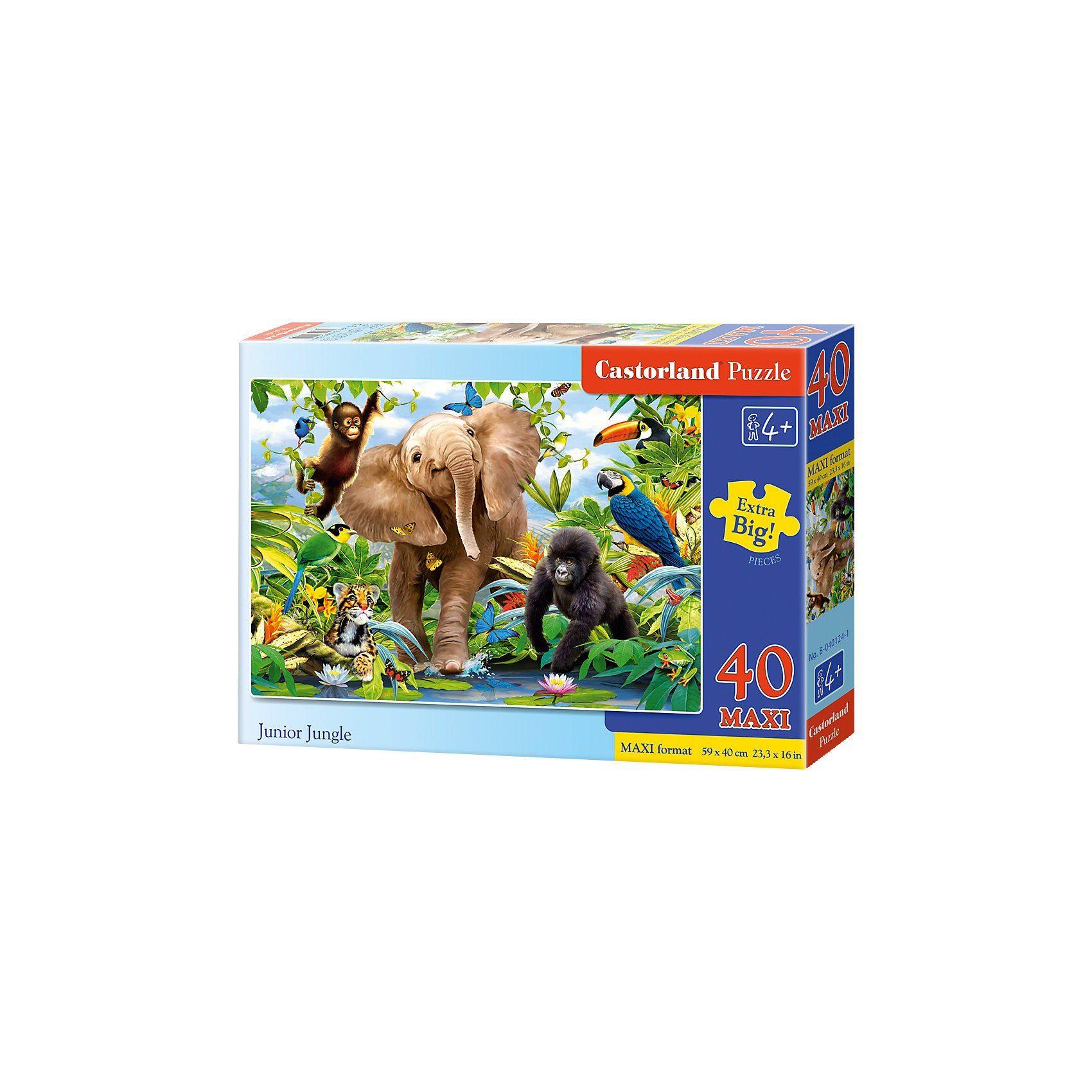 Castorland Bodenpuzzle 40 Teile Maxi - Dschungeltiere