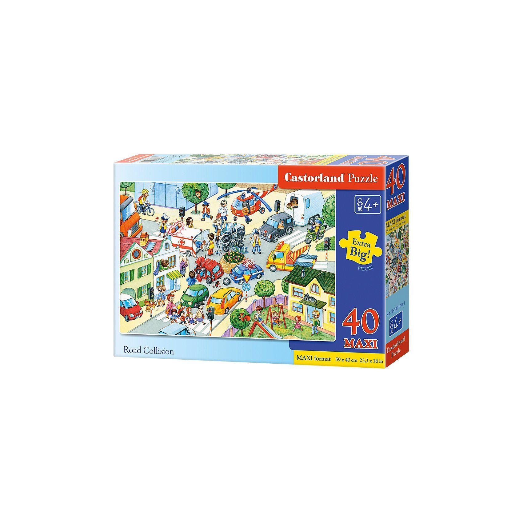 Castorland Bodenpuzzle 40 Teile Maxi - Verkehrsunfall