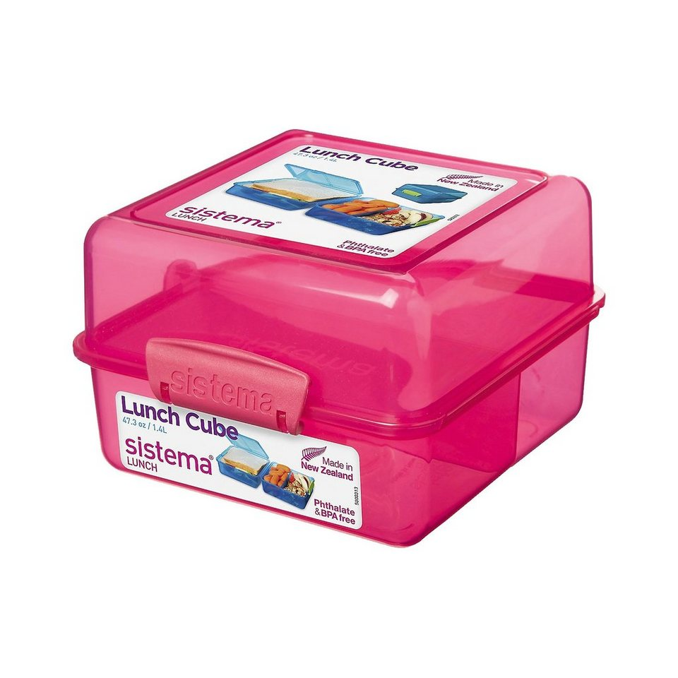 Lunchbox 3-fach unterteilt pink in rosa