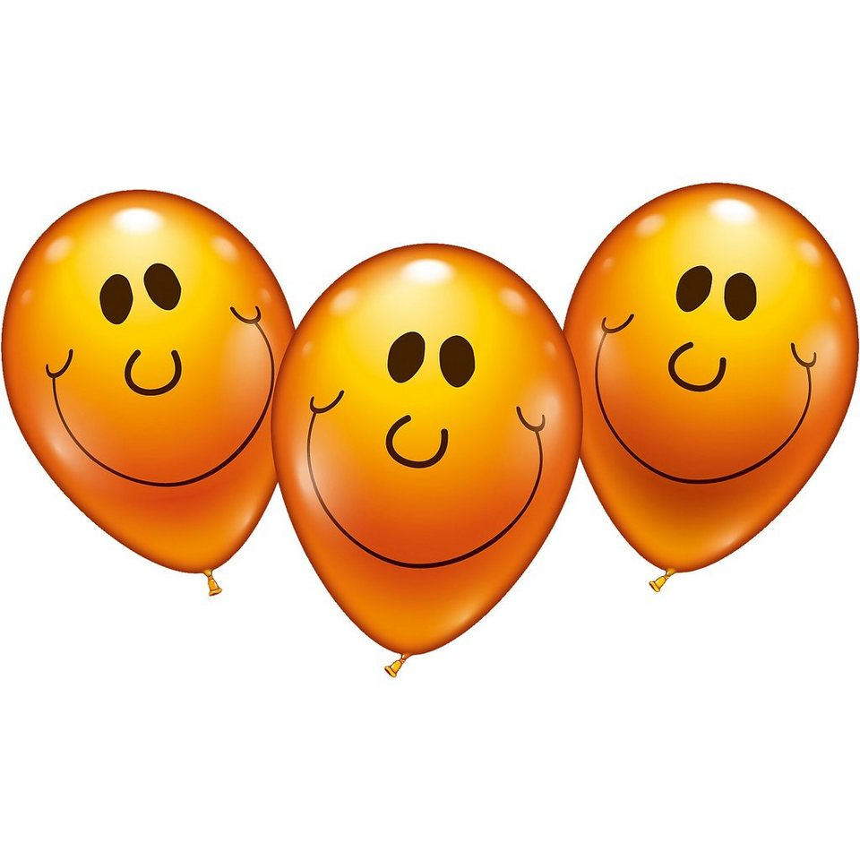 Karaloon Luftballons Sunny Face, 6 Stück