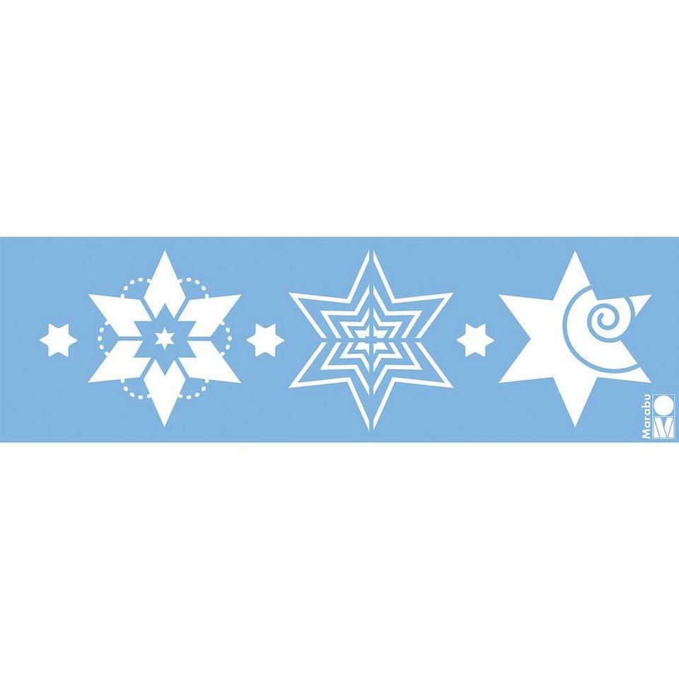Marabu Kreativschablone Modern Stars, 10 x 33 cm