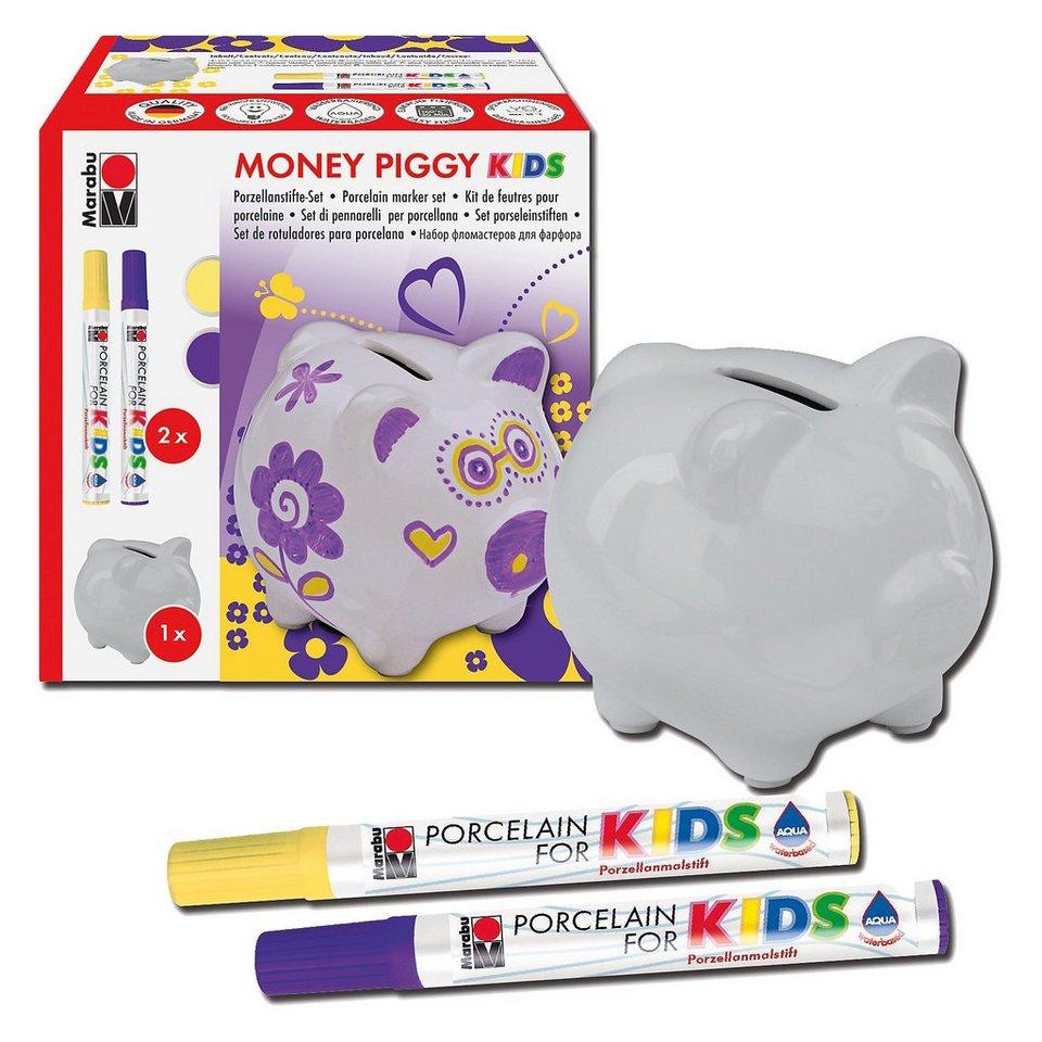Marabu Porcelain For Kids Set Spardose Money Piggy