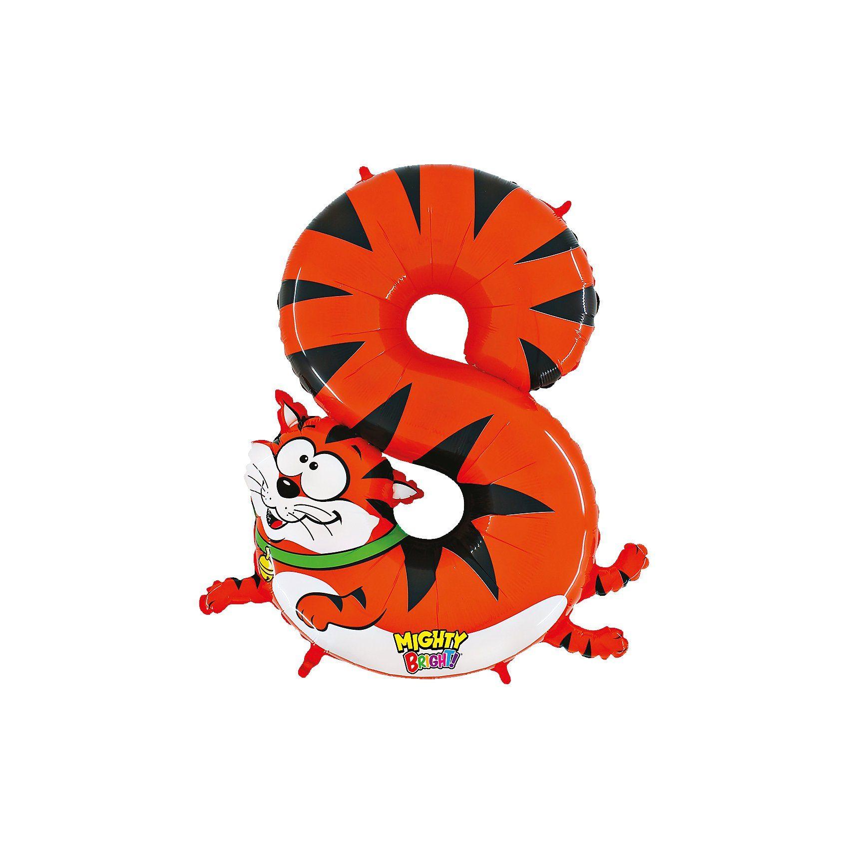 Karaloon Ballon Zahl 8 Katze