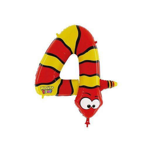 Karaloon Ballon Zahl 4 Schlange