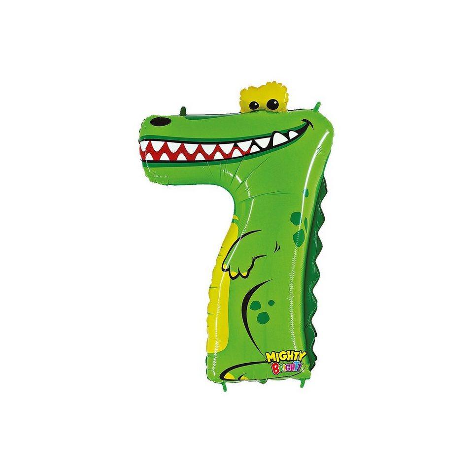 Karaloon Ballon Zahl 7 Krokodil