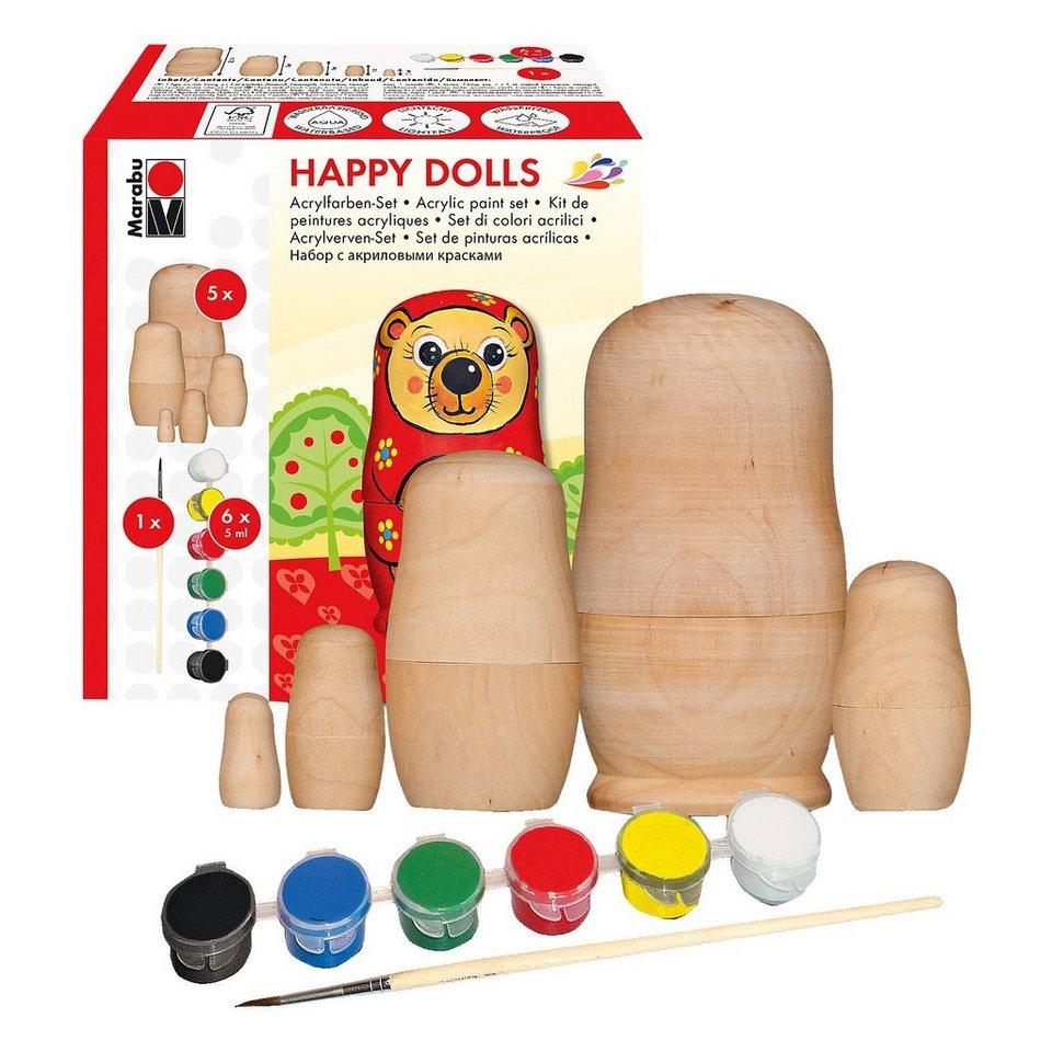 Marabu Kreativset AcrylHappy Dolls, 8-tlg.